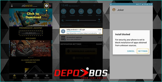 step download android joker1888 pertama